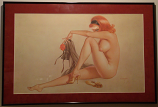 """Framed Playboy Vargas """"May 1963"""" Limited Edition Print"""