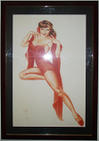 "Framed Vargas ""Red Queen"" Limited Edition Print 12/20"