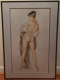 "Framed Playboy Vargas ""May 1961"" Limited Edition Print"
