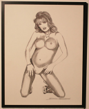 """Posing Nude"" Original Art by the Artist"