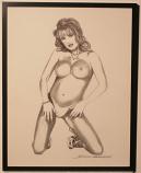"""Posing Nude"" Original Art by the Artist"