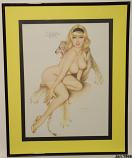 Playboy Vargas Print (January 1966)