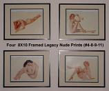 4 Vargas Legacy Nude Prints (#4, #8, #9, #11)